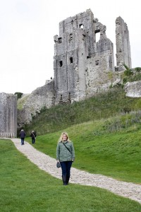 Corfe Castle, Dorset. National Trust protected site.