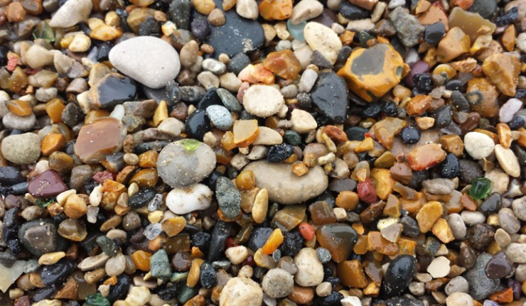 There is a huge amount of sea glass on Seaham Hall Beach.