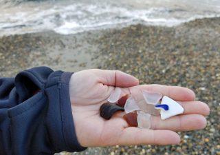 Sea glass found at Alki Beach, Seattle, Washington