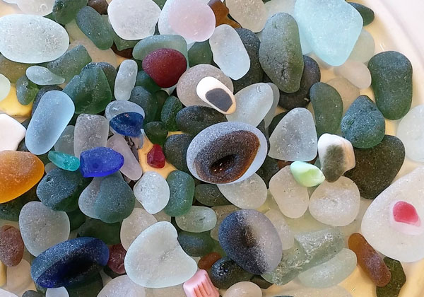 Multi sea glass from Seaham Beach, English sea glass.