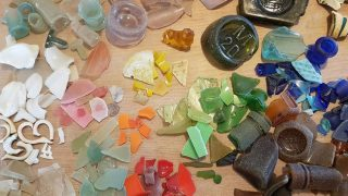 Rainbow of sea glass treasures from the Thames Estuary.