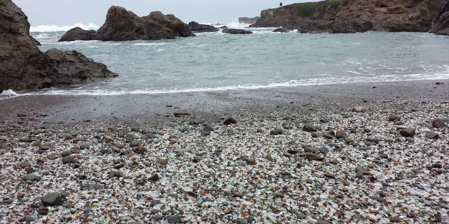 Glass Beach at Fort Bragg, California
