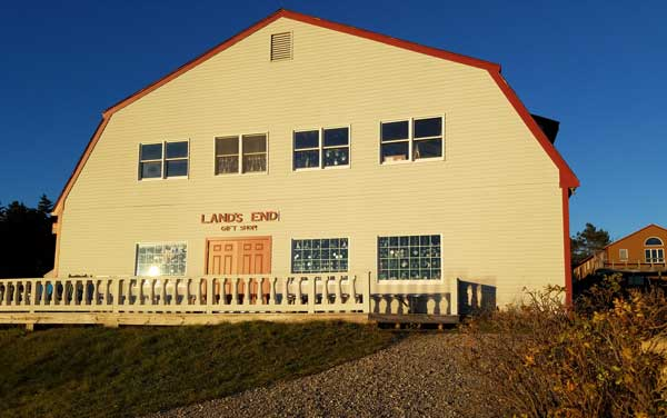 View of Lands End Gift Shop on Bailey Island.