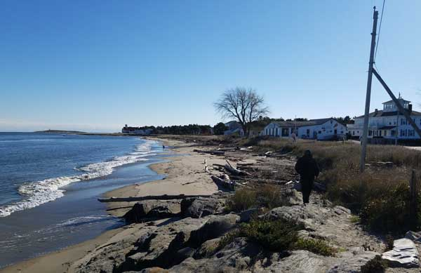 View of beach near Fort Popham.